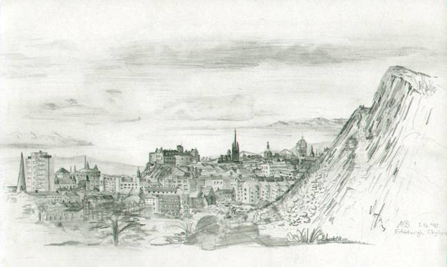 Edinburgh skyline by michaelbatty 1992