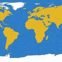 """Ocean swirls world map"" by gsquared"