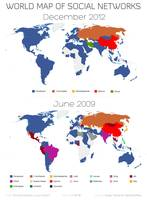World Map of Social Networks 2009-2012