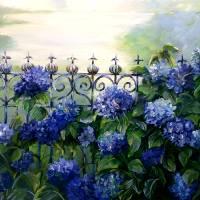 Blue Hydrangeas by Beth Charles