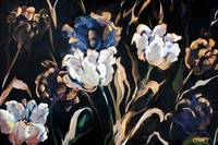 Metallic & White Tulips