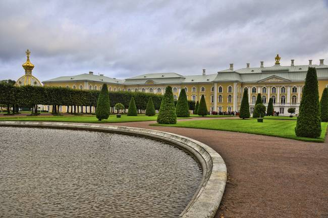In the Gardens At the Peterhof