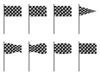 checkered 3d flags