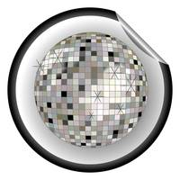 disco ball black sticker