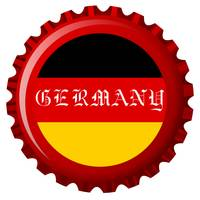 germany stylized flag on bottle cap