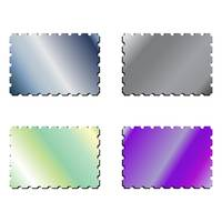 metallic postage stamps