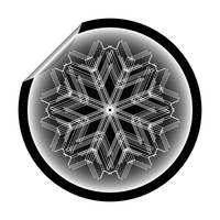 snow flake sticker isolated on white background 10