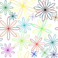 colored flowers abstract pattern