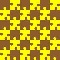 puzzle brown and yellow