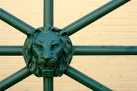 the lion on the gate