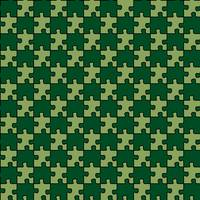 seamless puzzle with mixed green forest