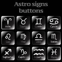 dark astro sign buttons