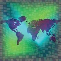 world map over squared background