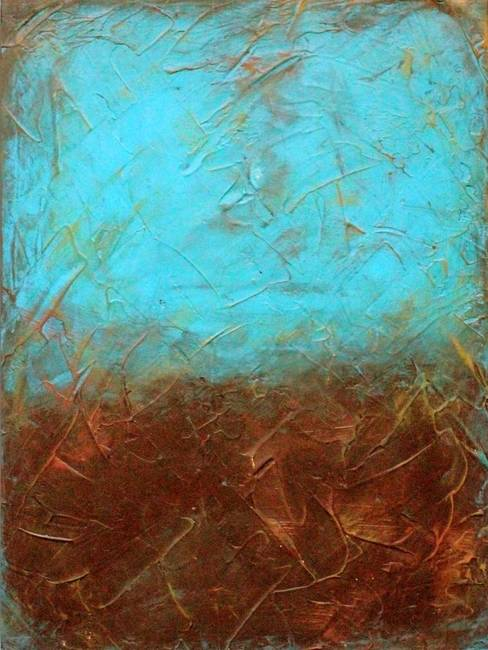 turquoise and brown by liz moran