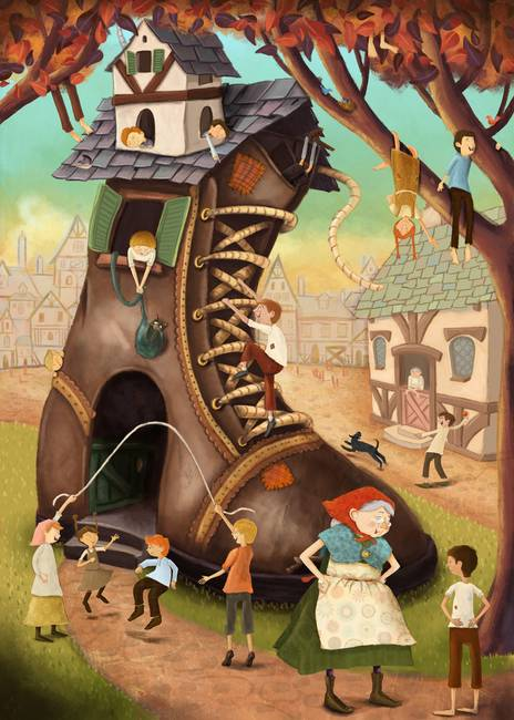 b9515630816 Little Old Lady Who Lived in a Shoe by Christina Forshay