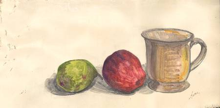 Cup, Apple & Pear