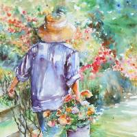 Afternoon Gardening by Beth Charles