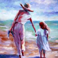 Walking the Beach by Beth Charles