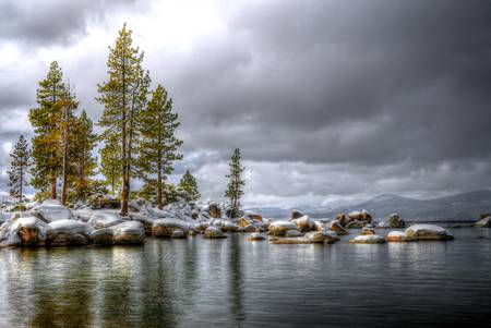 Sand Harbor Snow