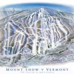 """Mount Snow Vermont"" by jamesniehuesmaps"