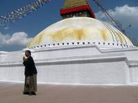 Praying at the Stupa