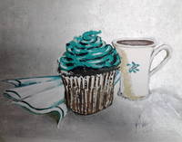 Teal Ice and Coffee
