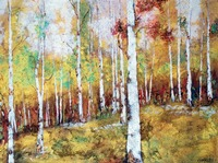 Metallic Birches