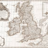Eighteenth Century Britain Map Art Prints & Posters by Tammy Winand