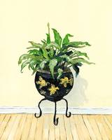 Potted Green Plant Painting