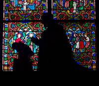At Prayer Notre Dame Cathedral