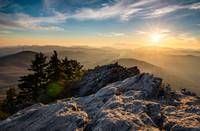 Grandfather Mountain Sunset Blue Ridge Parkway Wes