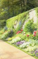 The Artist's Garden (oil on canvas)