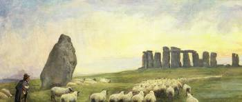 Returning Home, Stonehenge, Wiltshire, 1891 (oil o