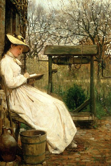 Leisure Hours, 1877 )oil on canvas(