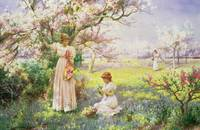 Spring: Picking Flowers, 1898 (w/c on paper)