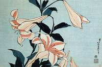 Trumpet lilies (colour woodblock print)