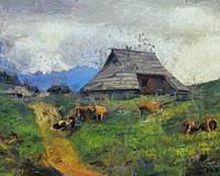 Evening gathering at Velika planina