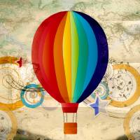 Hot Air Balloon 2 by Lisa Rich