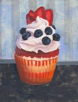 Mad Blueberries Cupcake