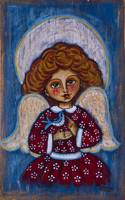 The angelic girl with a bird