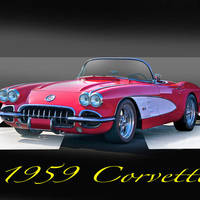 """1959 Corvette Roadster"" by FatKatPhotography"