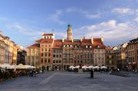 Warsaw's old town market square
