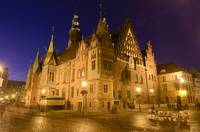 Wroclaw's city hall at night