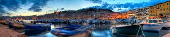 Panoramic photo of Portoferraio at sunset, Isle of