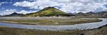 Panoramic photo of Landmannalaugar, Iceland