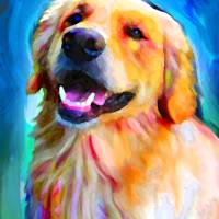 """Golden Retriever"" by LivePawsitively"