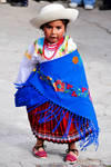 Indigenous Child in Colorful Tribal Dress