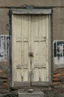 Beige Door in a Wall