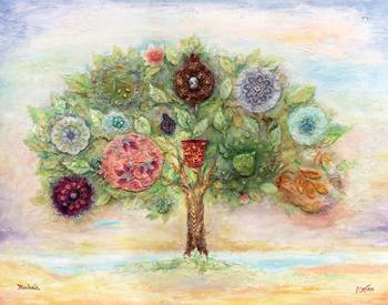 Tree With Seven Fruits Of Israel By Michoel Muchnik