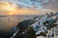 Stunning photo of Santorini at sunset